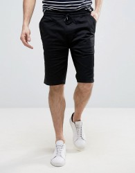 Troy Casual Draw String Shorts - Black