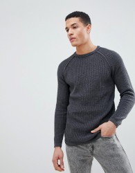 Troy Crew Neck Jumper - Grey