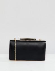 True Decadance Black Square Box Clutch Bag - Black