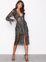 True Decadence Black Lace Dress Pailletkjoler Black