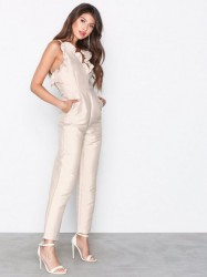 True Decadence Frill Jumpsuit Jumpsuits Ecru
