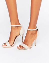 True Decadence Pink Glitter Barely There Heeled Sandals - Pink
