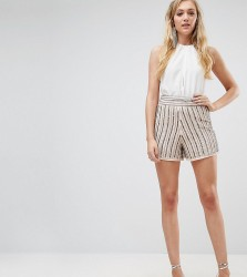 True Decadence Tall Embellished Short Co-Ord - Grey