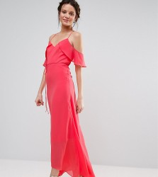 True Decadence Tall Flutter Sleeve Maxi Dress - Pink