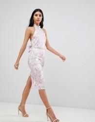 True Violet Bar Back Bodycon Dress - Multi