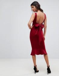 True Violet Bow Back Pephem Dress - Purple