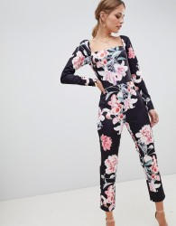 True Violet floral printed jumpsuit - Multi