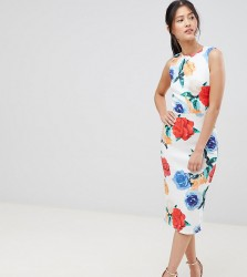 True Violet midi bodycon dress in print - Multi