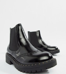 Truffle Collection Chunky Chelsea Ankle Boots - Black