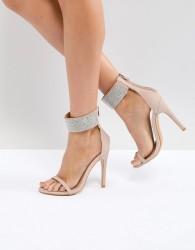 Truffle Collection Embellished Heeled Sandals - Beige