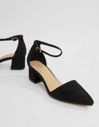 Truffle Collection Pointed Mid Heels - Black