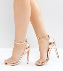 Truffle Wide Fit Barely There Heel Sandal - Copper