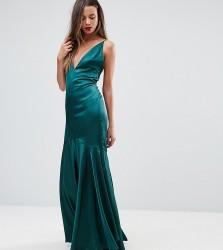 TTYA BLACK Cami Strap Maxi Dress With Fishtail Hem - Green