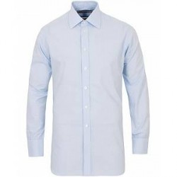 Turnbull & Asser Classic Fit Micro Check Shirt Blue