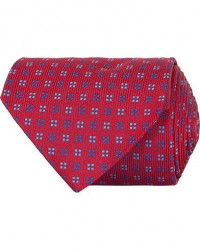 Turnbull & Asser Mini Square Spot Silk 9,5cm Tie Red/Blue