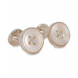 Turnbull & Asser Mother of Pearl Button Cufflinks White