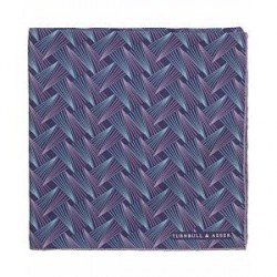 Turnbull & Asser Multi Pins Silk Pocket Square Purple