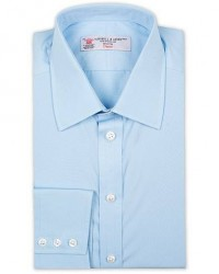 Turnbull & Asser Regular Fit T&A Collar Poplin Shirt Light Blue