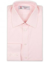 Turnbull & Asser Regular Fit T&A Collar Poplin Shirt Pink
