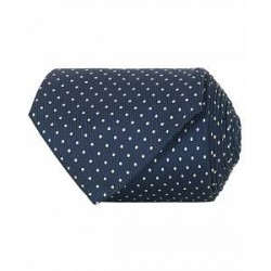 Turnbull & Asser Silk Dot 8 cm Tie Navy