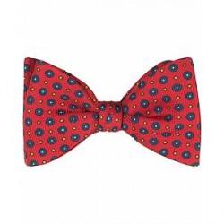 Turnbull & Asser Silk Gatsby Flower Bowtie Red