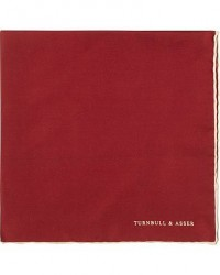 Turnbull & Asser Silk Handkerchief Burgundy