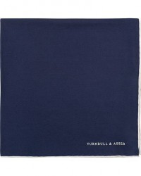 Turnbull & Asser Silk Handkerchief Navy