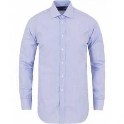 Turnbull & Asser Slim Fit Poplin End on End Shirt Blue