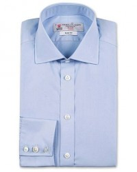 Turnbull & Asser Slim Fit Poplin Shirt Light Blue