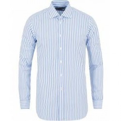 Turnbull & Asser Slim Fit Poplin Stripe Shirt Light Blue
