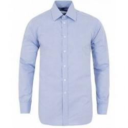 Turnbull & Asser Standard Fit Poplin Glencheck Shirt Blue