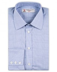 Turnbull & Asser Standard Fit Poplin Glencheck Shirt Blue