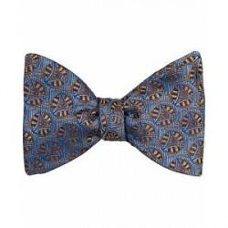 Turnbull & Asser Triangle Circle 8 cm Silk Self Bow Tie Dark Blue