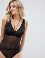 Tutti Rougette Esme Mesh Fuller Bust Body With Detachable Bralette - Black
