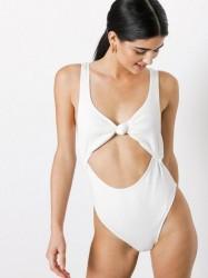 TWIIN Freya Knot Swimsuit Sportsbadetøj Hvid