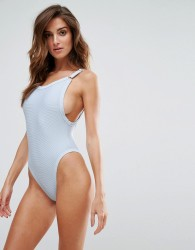 Twiin Rib Swimsuit - Blue