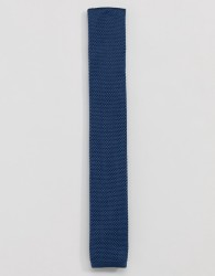 Twisted Tailor knitted tie in blue - Blue