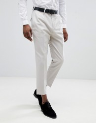 Twisted Tailor Tapered Pleated Trouser In Grey - Grey