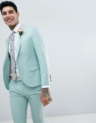 Twisted Tailor Wedding Super Skinny Suit Jacket In Light Green - Green