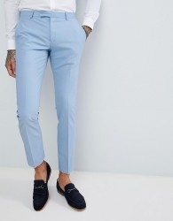 Twisted Tailor Wedding Super Skinny Suit Trousers In Light Blue - Blue