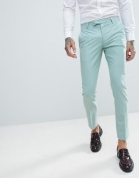 Twisted Tailor Wedding Super Skinny Suit Trousers In Light Green - Green