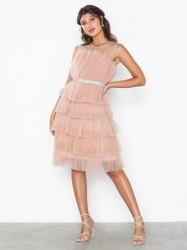 U Collection Flounce Midi Belt Dress Loose fit