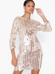 U Collection Sequins Midi Dress Pailletkjoler