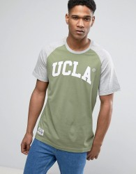 UCLA Logo Print Raglan Sleeve T-Shirt - Green