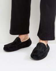 UGG Ascot Suede Water Resistant Slippers - Black