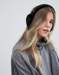 UGG Classic Wired Sheepskin Black Earmuff Headphones - Black