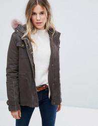 Ugg Field Jacket With Toscana Shearling Fur Hood - Green