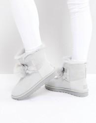 UGG Gita Bow Grey Violet Boots - Grey