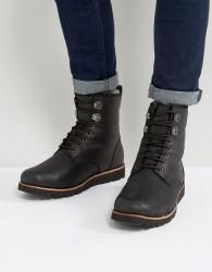 UGG Hannen Treadlite Waterproof Leather Boots - Black