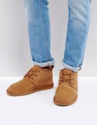 UGG Neumel Suede Lace Up Short Boots - Beige